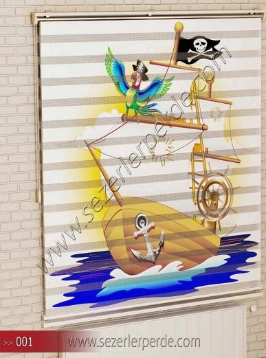 Poster Baskılı  Zebra Perde  SZR- 1071