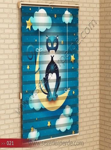Poster Baskılı  Zebra Perde  SZR- 1087