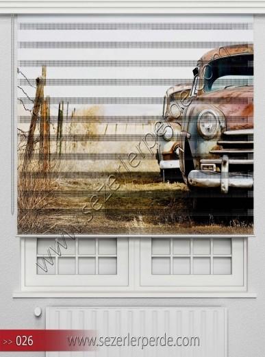 Poster Baskılı  Zebra Perde  SZR- 1091