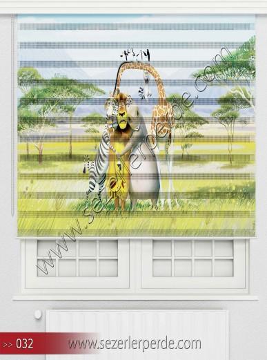 Poster Baskılı  Zebra Perde  SZR- 1093