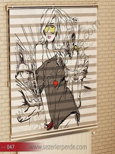 Poster Baskılı  Zebra Perde  SZR- 1102