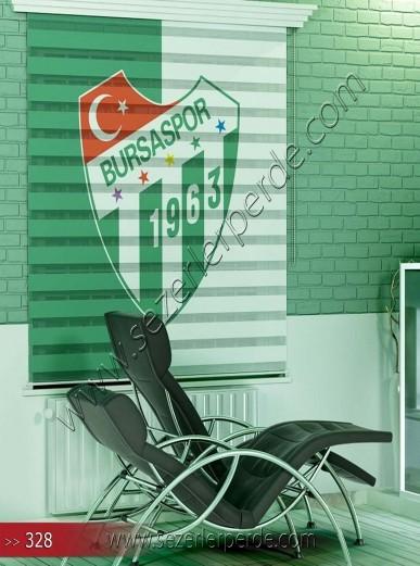 Poster Baskılı  Zebra Perde  SZR- 1070 Bursaspor