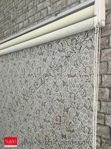 çiftli sitem tülstor 9003 kırık beyaz