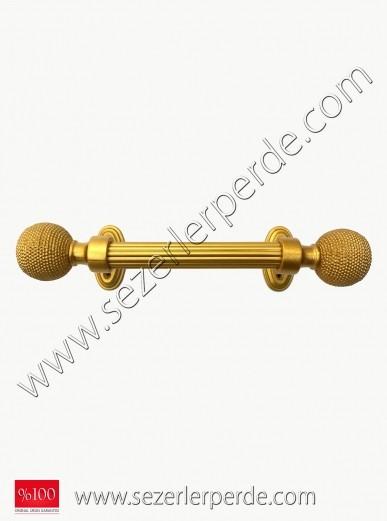 Rustik Perde Serrate Altın İşlemeli EN:100CM