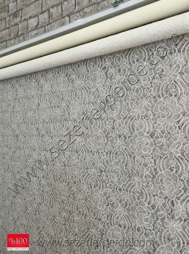 çiftli sistem tülstor 9001 kırık beyaz