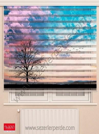 Poster Baskılı  Zebra Perde  SZR-1047 Gökyüzü