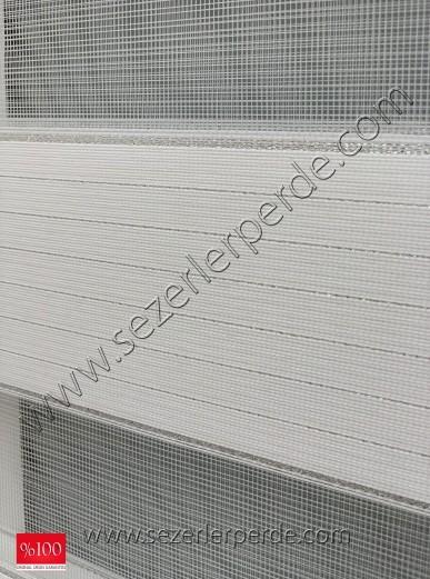 Gümüş Sim Geçişli Bambu Lüx Zebra Loca 2100