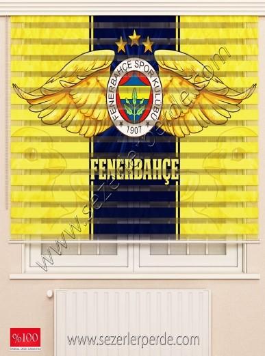 Poster Baskılı  Zebra Perde  SZR-1066 Fenerbahçe