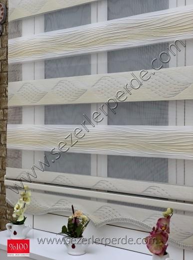 %25 İndirimli Yeni Sezon Lüx Zebra Perde London 701