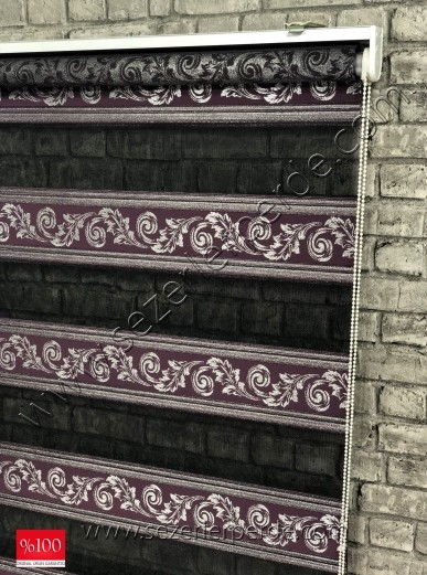 Nakışlı Zebra Perde 1453
