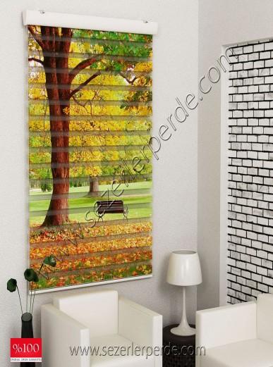 Poster Baskılı  Zebra Perde  SZR-1028 Sonbahar