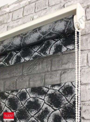 Jakarlı Zebra Perde MS 1981 Siyah