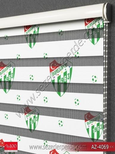 Baskılı Zebra Perde Bursaspor Desen
