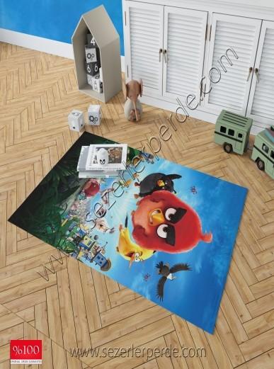 Brillant Baskılı Halı Yeni Sezon Angry Birds 80x150
