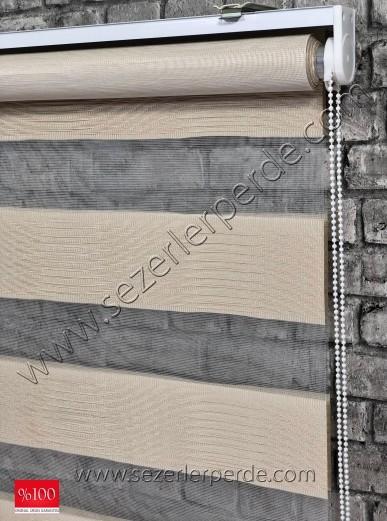 Lüx Zebra Perde Vizon