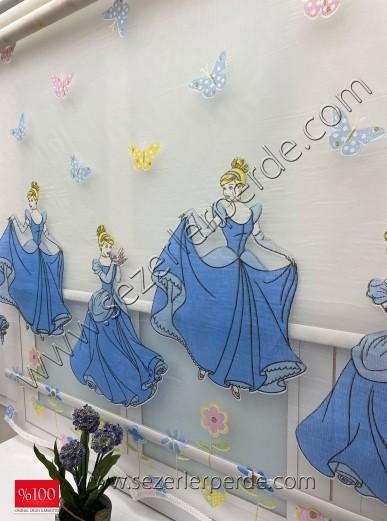 Yeni Sezon Çiftli Sistem Tülstor Mavi Prenses